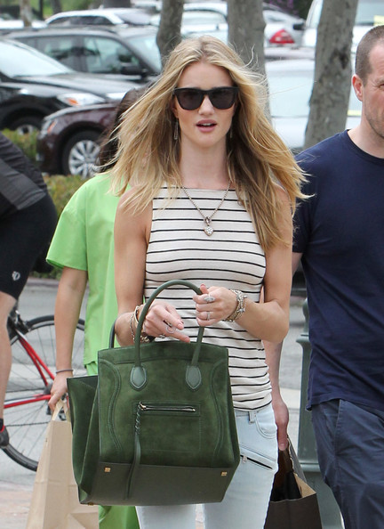 Spotted: Rosie Huntington-Whiteley Carrying Celine Luggage ...